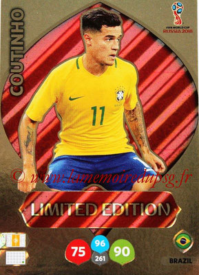 2018 - Panini FIFA World Cup Russia Adrenalyn XL - N° LE-CO - COUTINHO (Brésil) (Limited Edition)