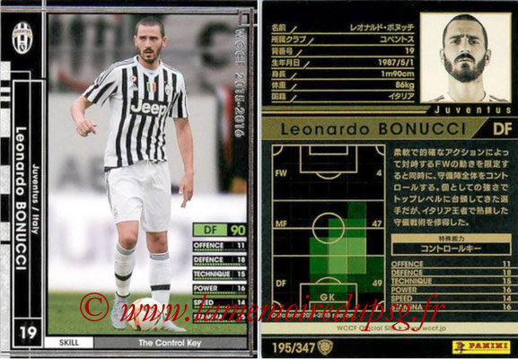 2015-16 - Panini WCCF - N° 195 - Leonardo BONUCCI (Juventus FC)