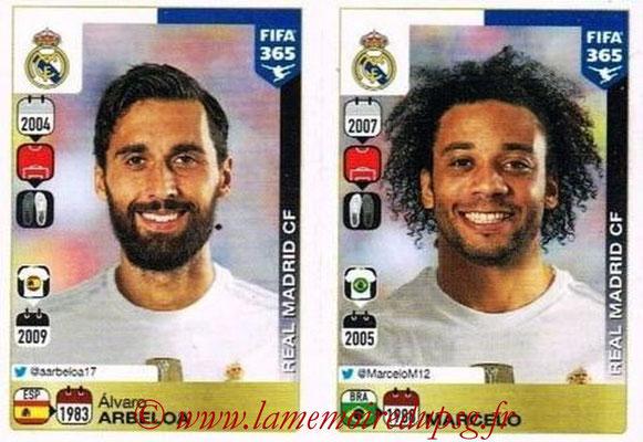 2015-16 - Panini FIFA 365 Stickers - N° 380-381 - Álvaro ARBELOA + MARCELO (Real Madrid CF)