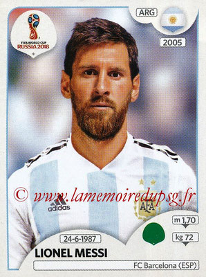 2018 - Panini FIFA World Cup Russia Stickers - N° 288 - Lionel MESSI (Argentine)