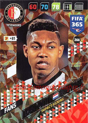 2017-18 - Panini FIFA 365 Cards - N° 266 - Jean-Paul BOËTIUS (Feyenoord ) (Impact Signing)