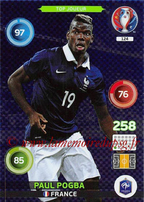 Panini Euro 2016 Cards - N° 124 - Paul POGBA (France) (Top Joueur)