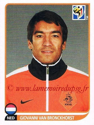 2010 - Panini FIFA World Cup South Africa Stickers - N° 337 - Giovanni VAN BRONCKHORST (Pays Bas)
