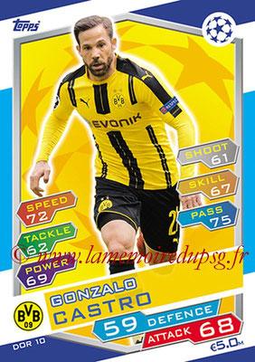 2016-17 - Topps UEFA Champions League Match Attax - N° DOR10 - Gonzalo CASTRO (Borussia Dortmund)