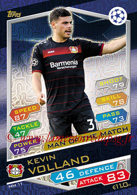 2016-17 - Topps UEFA Champions League Match Attax - N° MM11 - Kevin VOLLAND (Bayer 04 Leverkusen) (Man of the Match)