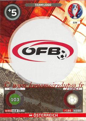 Panini Euro 2016 Cards - N° 226 - Logo de Autriche
