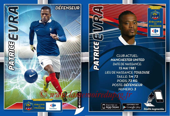 WC 2014 Collection Carrefour 3D Bleus - N° 06 - Patrice EVRA (Manchester United)