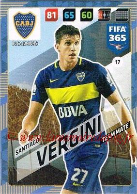 2017-18 - Panini FIFA 365 Cards - N° 017 - Santiago VERGINI (Boca Juniors)