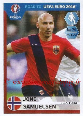 Panini Road to Euro 2016 Stickers - N° 185 - Jone SAMUELSEN (Norvège)