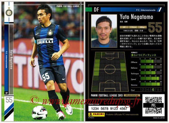 Panini Football League 2013 - PFL03 - N° 019 - Yuto Nagatomo (Inter Milan)