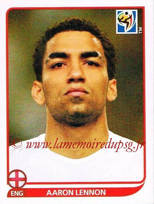 2010 - Panini FIFA World Cup South Africa Stickers - N° 193 - Aaron LENNON (Angleterre)