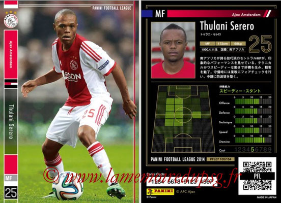 Panini Football League 2014 - PFL07 - N° 105 - Thulani SERERO (Ajax Amsterdam)