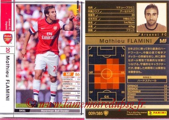 2013-14 - WCCF - N° 009 - Mathieu FLAMINI (Arsenal FC)
