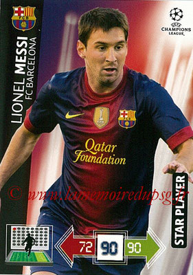 2012-13 - Adrenalyn XL champions League N° 038 - Lionel MESSI (FC Barcelone) (Star Player)