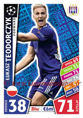 2017-18 - Topps UEFA Champions League Match Attax - N° SS16 - Lukasz TEODORCZYK (RSC Anderlecht) (Super Strikers)