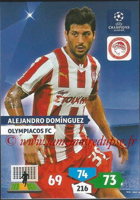 2013-14 - Adrenalyn XL champions League N° 203 - Alejandro DOMINGUEZ (Olympiacos FC)
