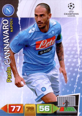 2011-12 - Panini Champions League Cards - N° 173 - Pablo CANNAVARO (SSC Naples)