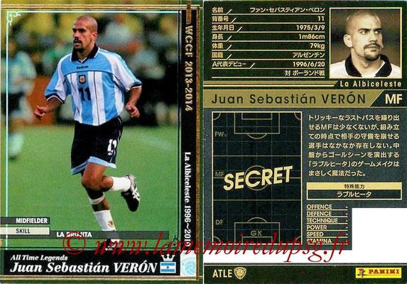 2013-14 - WCCF - N° ATLE14 - Juan Sebastian VERON (Argentine) (All Time Legend)