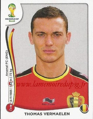 2014 - Panini FIFA World Cup Brazil Stickers - N° 571 - Thomas VERMAELEN (Belgique)