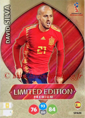 2018 - Panini FIFA World Cup Russia Adrenalyn XL - N° LE-DS2 - David SILVA (Espagne) (Limited Edition Premium)