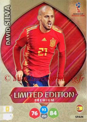 2018 - Panini FIFA World Cup Russia Adrenalyn XL - N° LE-DS2 - David SILVA (Espagne) (Limited Edition Premium)