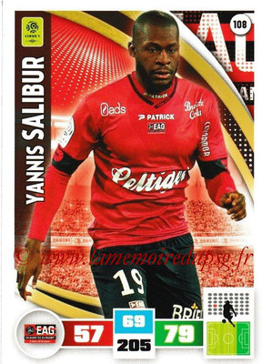 2016-17 - Panini Adrenalyn XL Ligue 1 - N° 108 - Yannis SALIBUR (Guingamp)