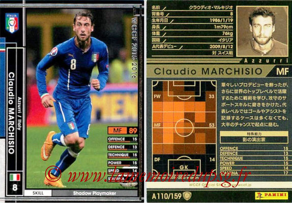 2015-16 - Panini WCCF - N° A110 - Claudio MARCHISIO (Italie)