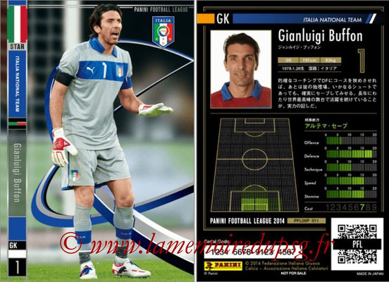 Panini Football League 2014 - PFL08P - N° 011 - Gianluca BUFFON (Italie) (Star)
