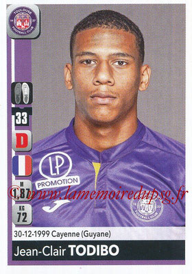 2018-19 - Panini Ligue 1 Stickers - N° 483 - Jean-Clair TODIBO (Toulouse)