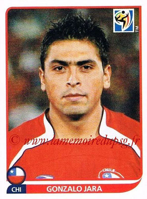 2010 - Panini FIFA World Cup South Africa Stickers - N° 622 - Gonzalo JARA (Chili)