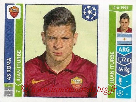 2014-15 - Panini Champions League N° 407 - Juan ITURBE (AS Rome)