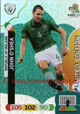 Panini Euro 2012 Cards Adrenalyn XL - N° LE41 - John O'SHEA (Eire) (Limited Edition)