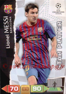 2011-12 - Panini Champions League Cards - N° 033 - Lionel MESSI  (FC Barcelone) (Star Player)