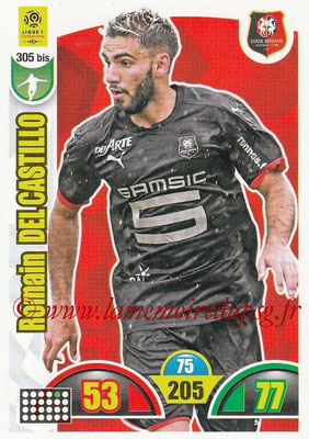 2018-19 - Panini Adrenalyn XL Ligue 1 - N° 305 bis - Romain DEL CASTILLO (Rennes)