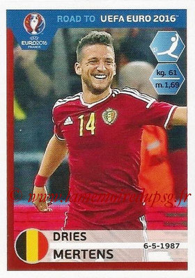Panini Road to Euro 2016 Stickers - N° 014 - Dries MERTENS (Belgique)
