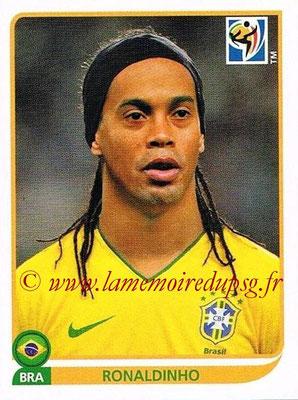 2010 - Panini FIFA World Cup South Africa Stickers - N° 500 - RONALDINHO (Brésil)