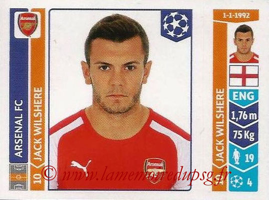 2014-15 - Panini Champions League N° 258 - Jack WILSHERE (Arsenal FC)