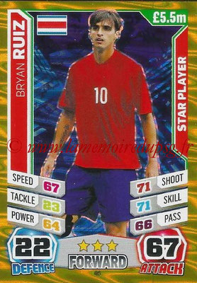 Topps Match Attax England 2014 - N° 065 - Bryan RUIZ (Costa Rica) (Star Player)