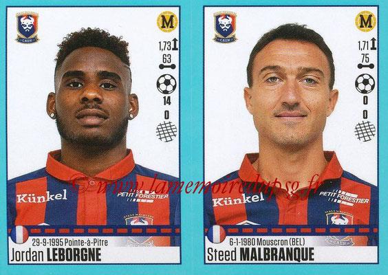 2016-17 - Panini Ligue 1 Stickers - N° 160 + 161 - Patrice GARANDE + Rémy VERCOUTRE (Caen)