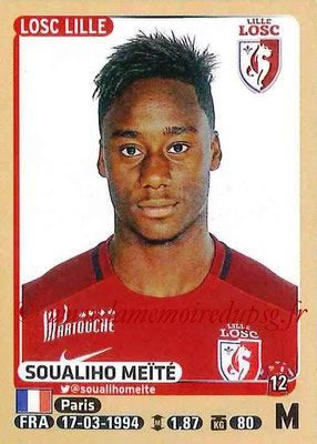 2015-16 - Panini Ligue 1 Stickers - N° 160 - Soualiho MEITE (Lille OSC)