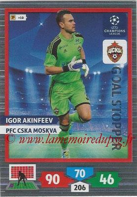 2013-14 - Adrenalyn XL champions League N° 324 - Igor AKINFEEV (PFC CSKA Moscou) (Goal Stopper)