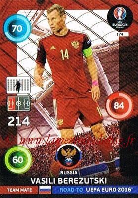 Panini Road to Euro 2016 Cards - N° 174 - Vasili BEREZUTSKI (Russie)