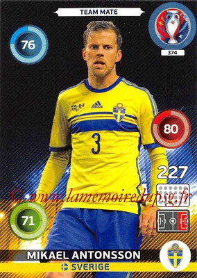 Panini Euro 2016 Cards - N° 374 - Mikael ANTONSSON (Suède)