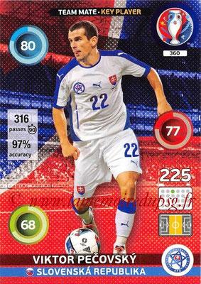 Panini Euro 2016 Cards - N° 360 - Viktor PECOVSKY (Slovenie) (Key Player)