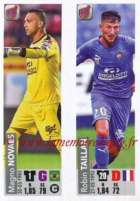 2018-19 - Panini Ligue 1 Stickers - N° 521 - Magno NOVAES + Robin TAILLAN (AS Beziers)