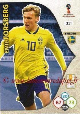2018 - Panini FIFA World Cup Russia Adrenalyn XL - N° 331 - Emil FORSBERG (Suède)