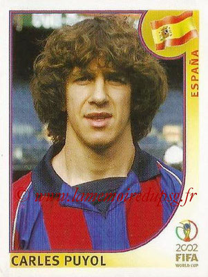 2002 - Panini FIFA World Cup Stickers - N° 100 - Carles PUYOL (Espagne)