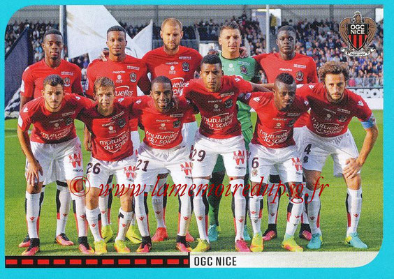 2016-17 - Panini Ligue 1 Stickers - N° 634 - Equipe Nice