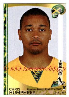 Panini Copa America Centenario USA 2016 Stickers - N° 266 - Chris HUMPHREY (Jamaïque)