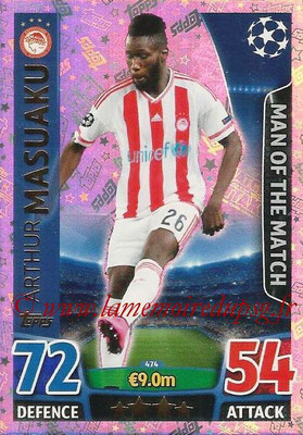 2015-16 - Topps UEFA Champions League Match Attax - N° 474 - Arthur MASUAKU (Olympiacos FC) (Man of the Match)
